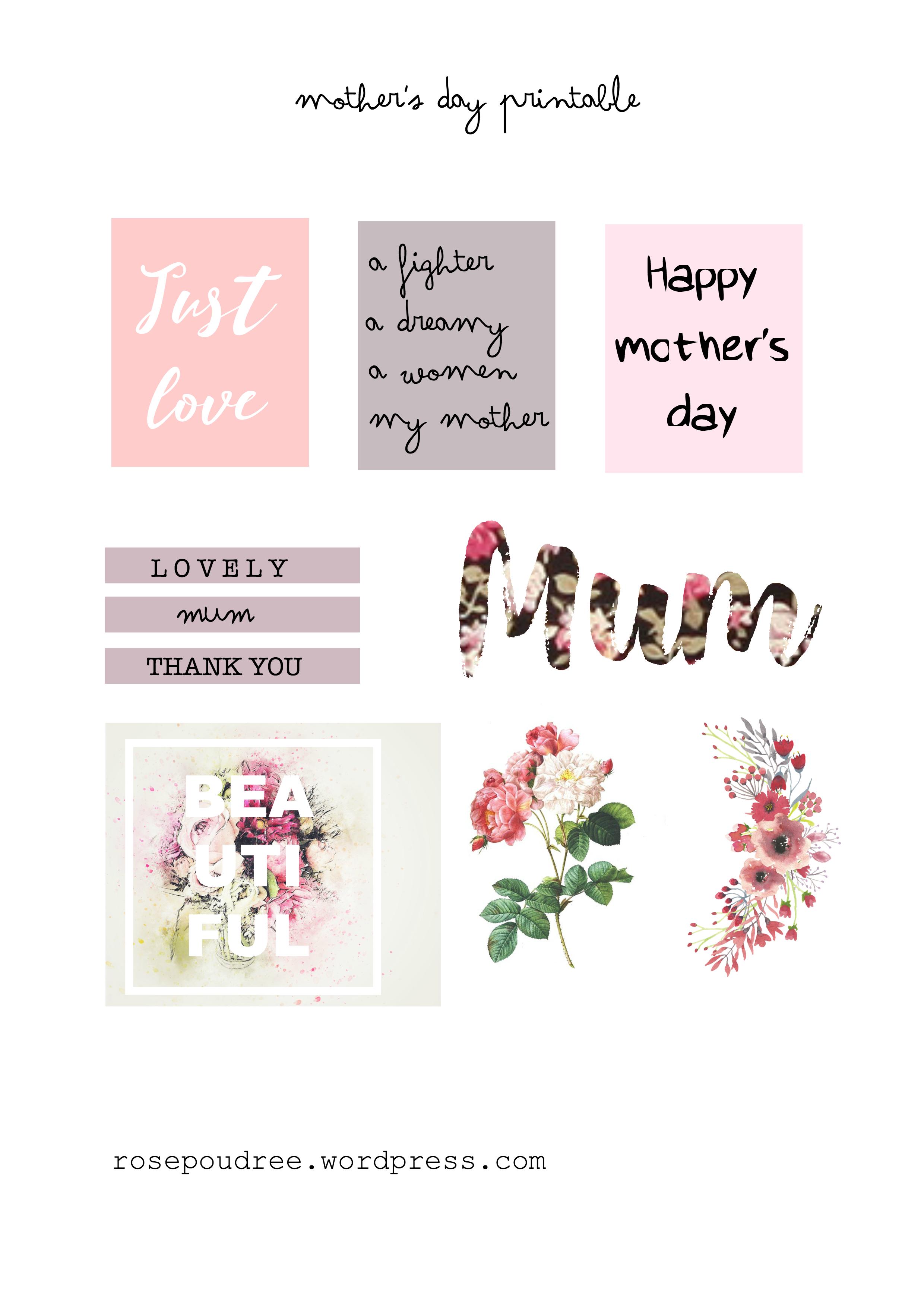 Free Printable Flowers | Printable Gratuit Pour La Fête Des Mères - Free Printable Flowers