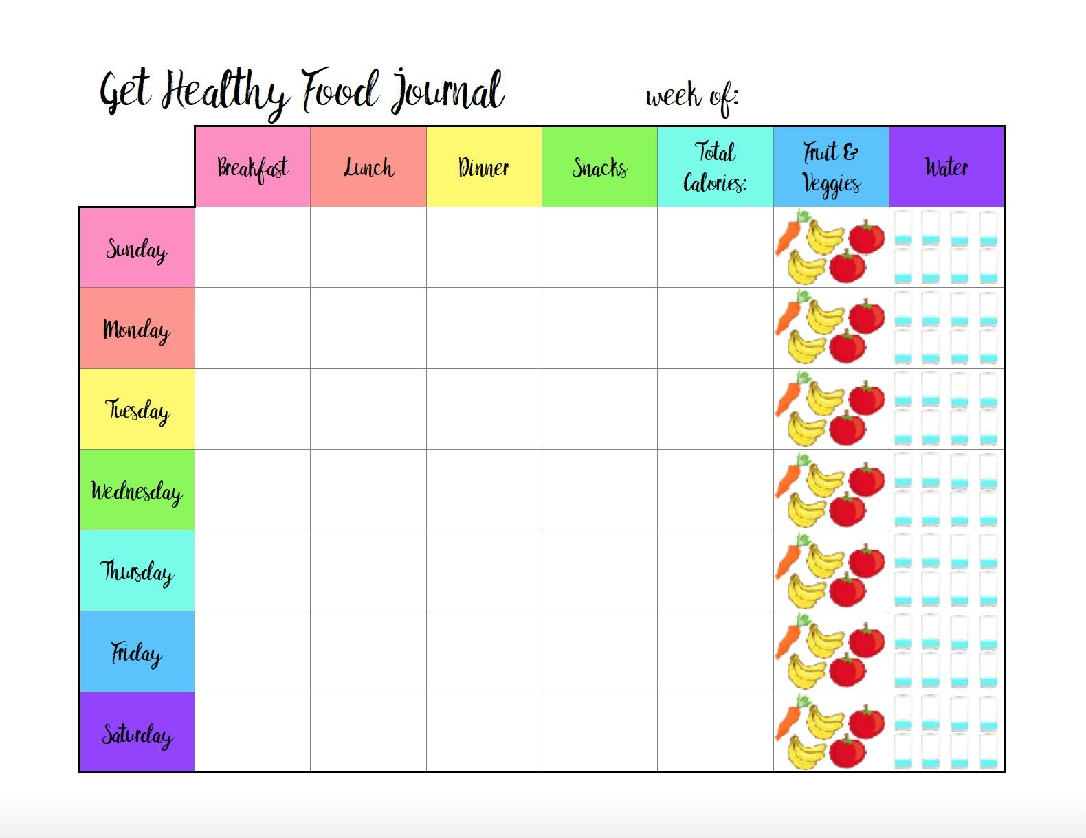 Free Printable Food Journal For Weight Loss Free Printable Food - Free Printable Calorie Counter Journal