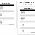 Free Printable Football Roster… | The Tomkat Studio Blog Inside Free   Free Fantasy Football Printable Draft Sheets