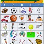 Free Printable For Sport Bingo. Click Here To Print Pdf Game Sheets   Free Printable Memory Exercises