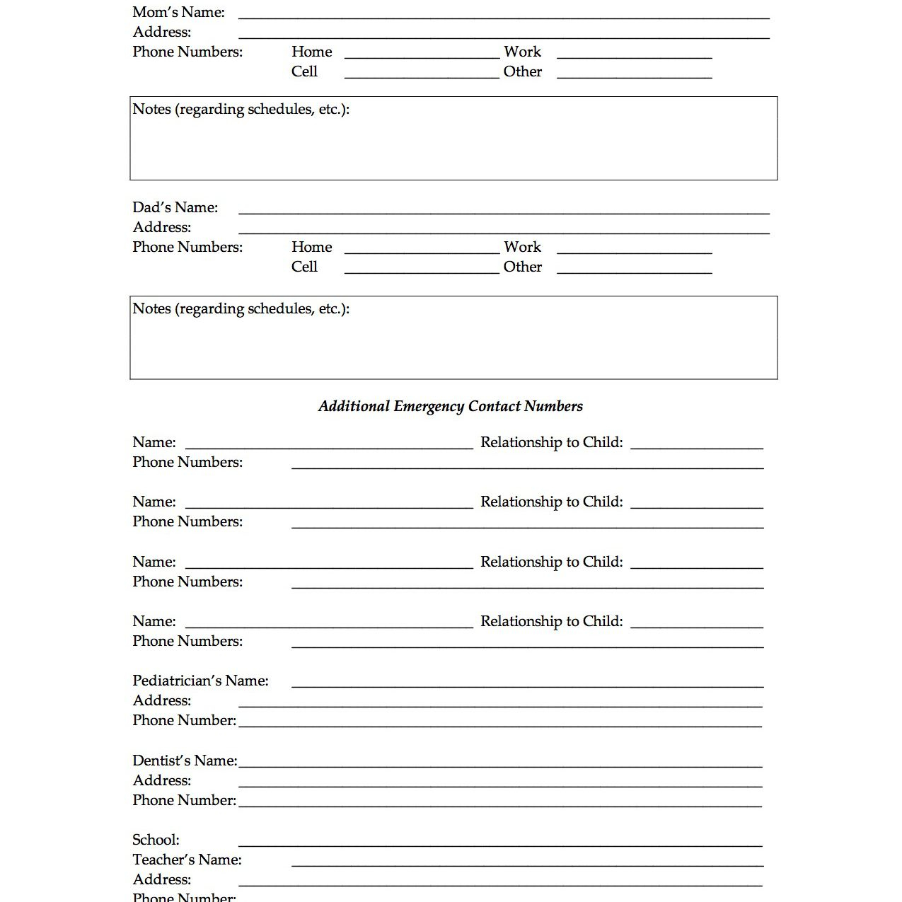 Free Printable Forms For Single Parents - Free Printable Parenting Plan