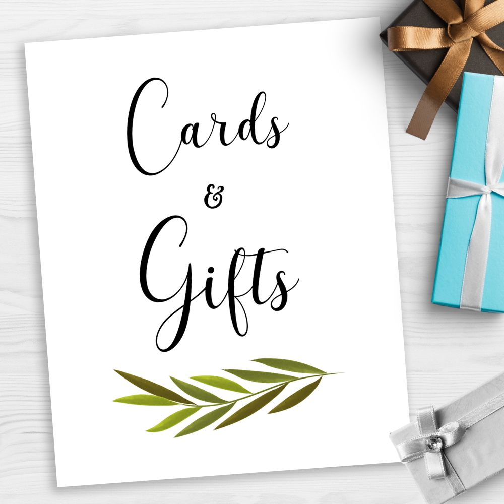 Free Printable! Free Printable Cards & Gifts Sign At Pixieandpaper - Cards Sign Free Printable