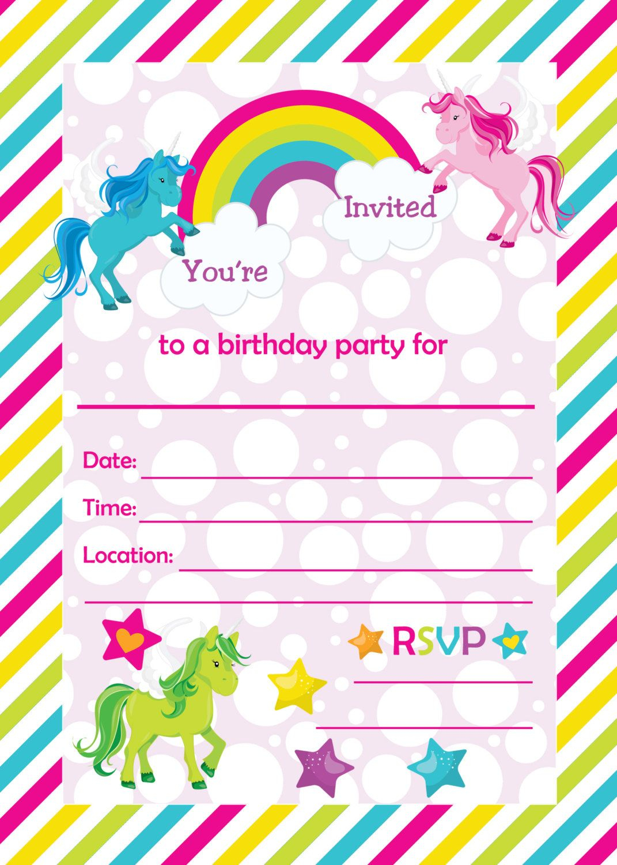 Free Printable Golden Unicorn Birthday Invitation | Serenity's - Free Printable Unicorn Birthday Invitations