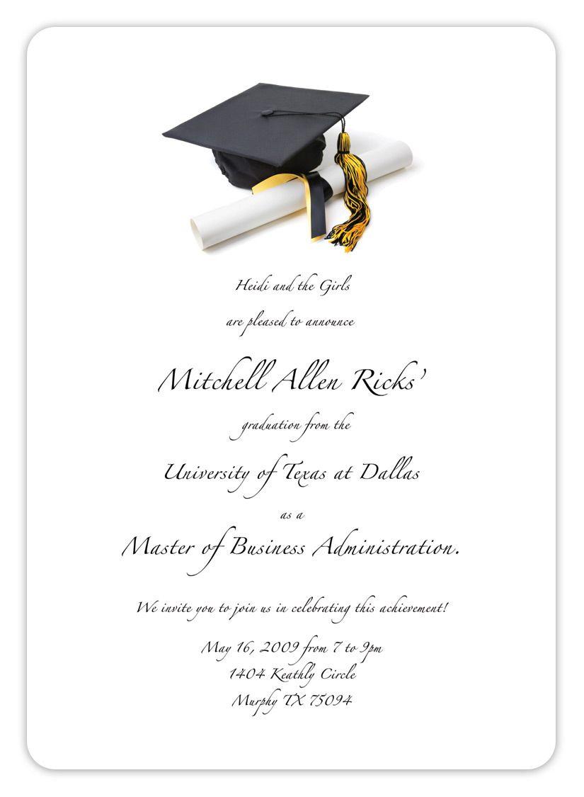 Free Printable Graduation Invitation Templates 2013 2017 | Places To - Free Printable Graduation Invitation Templates