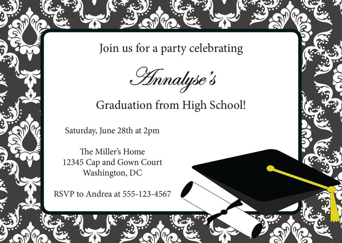 Free Printable Graduation Party Invitation Templates 2014 - Free Printable Graduation Party Invitations 2014