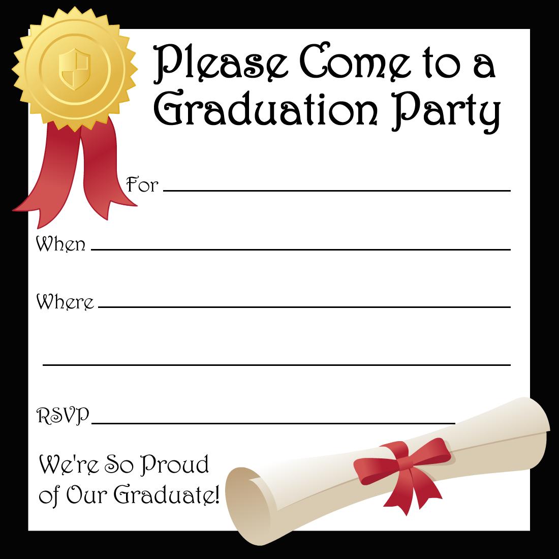 Free Printable Graduation Party Invitations | High School Graduation - Free Online Printable Graduation Invitation Maker