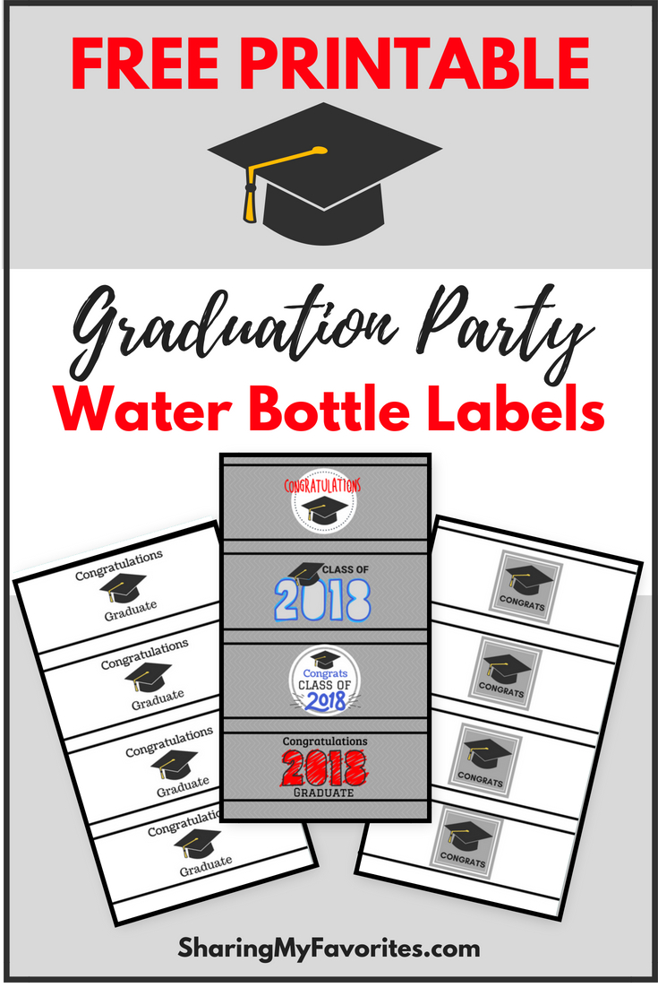 Free Printable Graduation Party Water Bottle Labels - Free Printable Water Bottle Labels Graduation