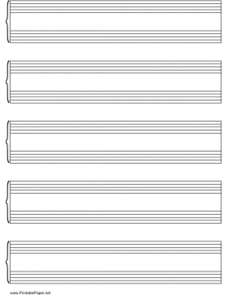Free Printable Grand Staff Paper | Free Printable - Free Printable Grand Staff Paper