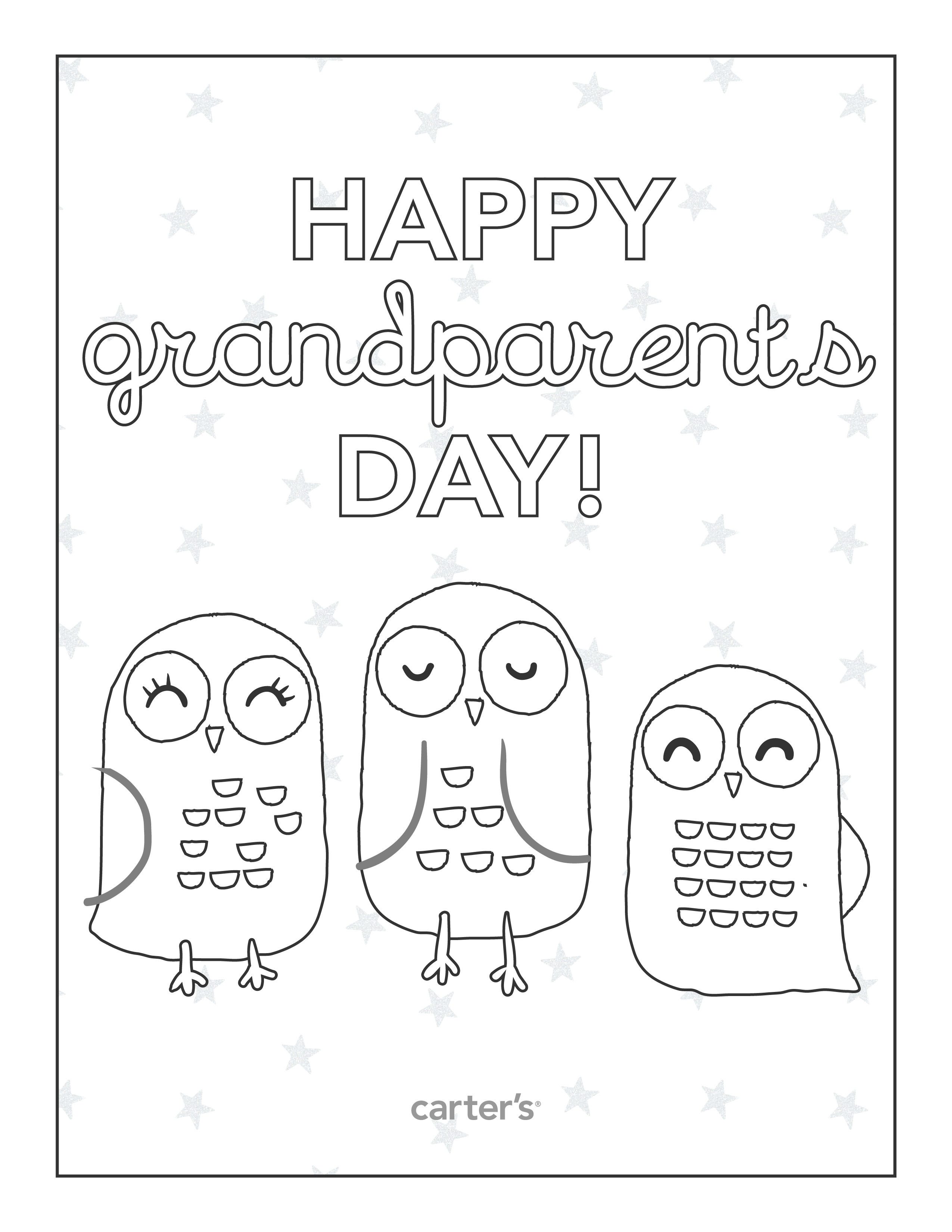 Free Printable Grandparents Day Coloring Pages From Carter's - Grandparents Certificate Free Printable