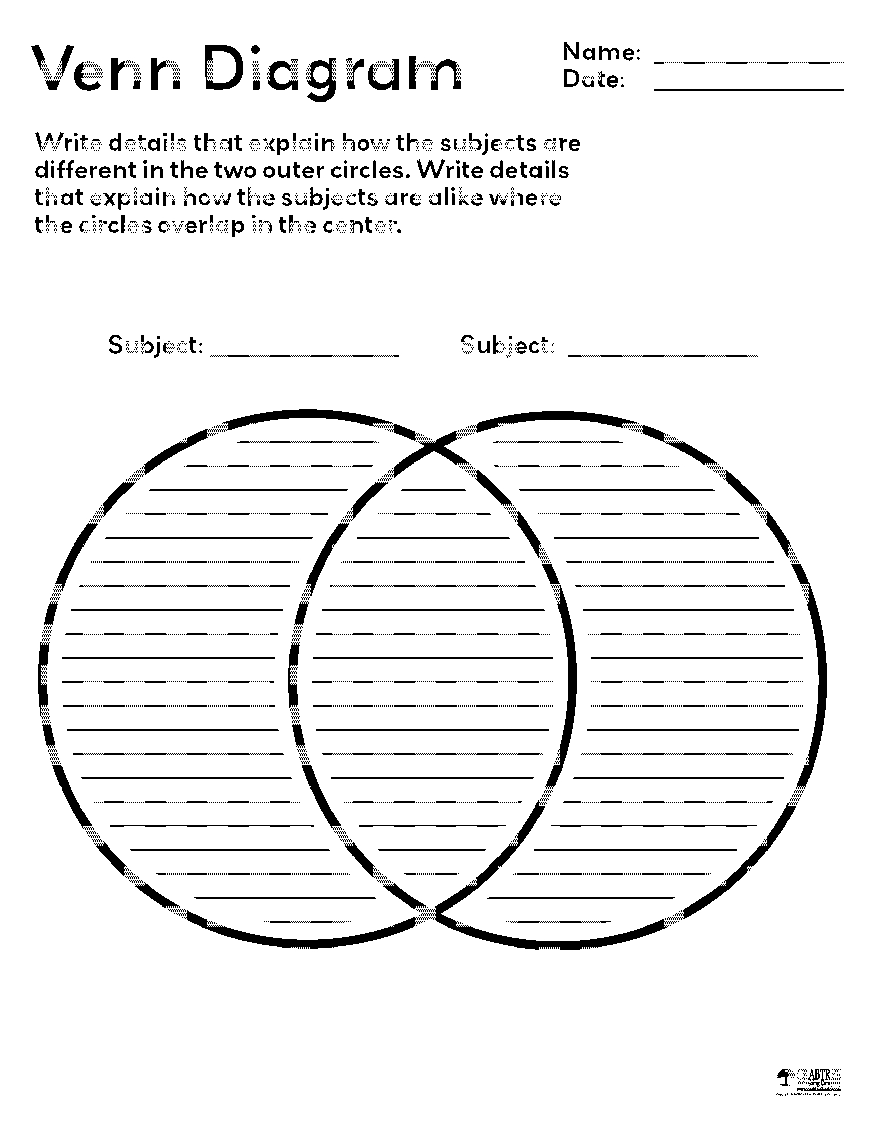 Free Printable Graphic Organizers From Crabtree Publishing | 3Rd - Free Printable Graphic Organizers