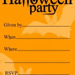 Free Printable Halloween Birthday Invitations Templates | Halloween   Free Printable Halloween Party Decorations