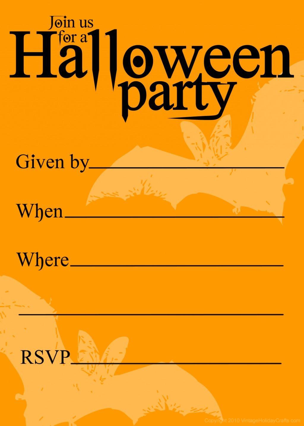 Free Printable Halloween Birthday Invitations Templates   Halloween - Free Printable Halloween Party Decorations