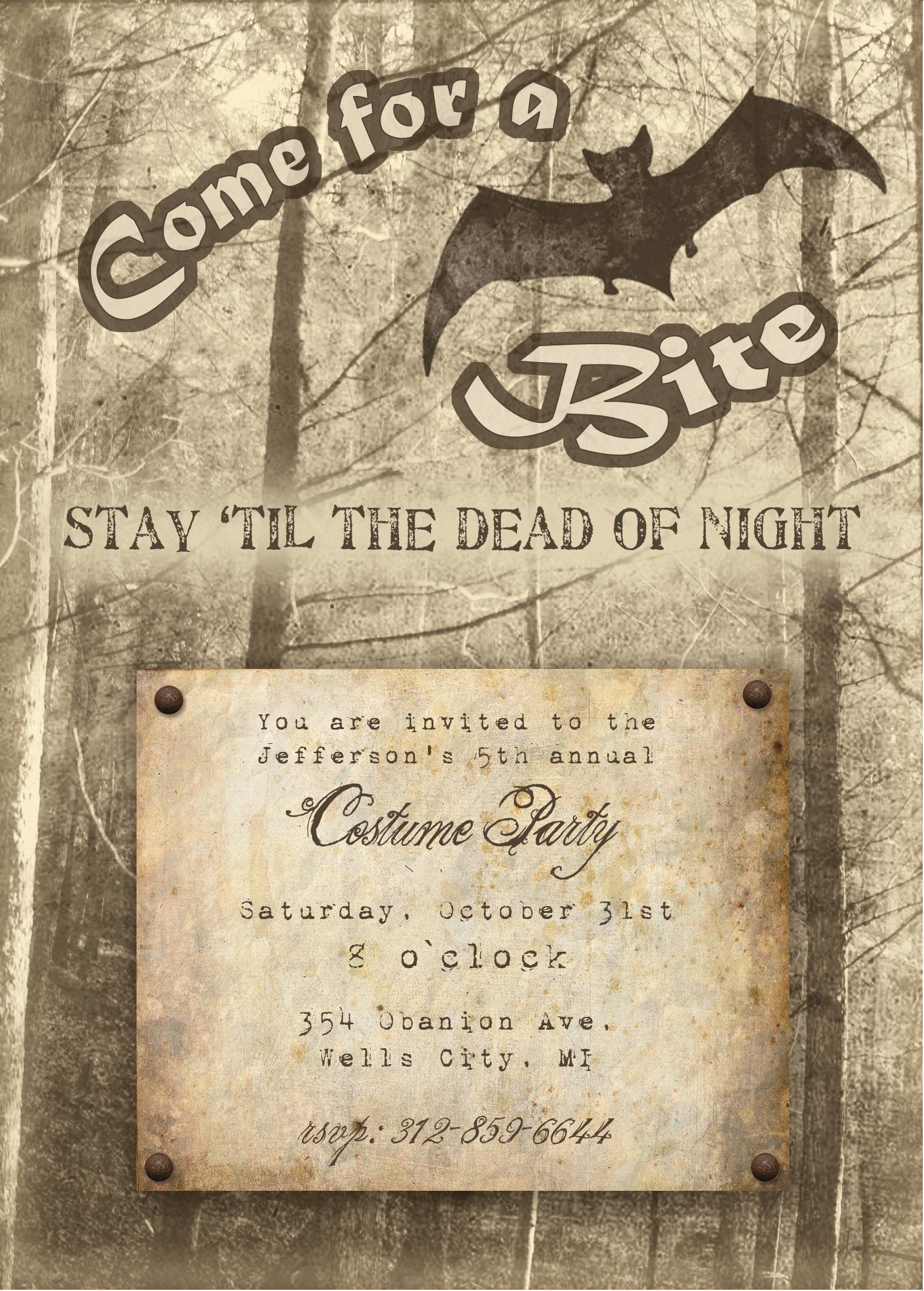 Free Printable Halloween Invitation - Free Printable Halloween Invitations For Adults