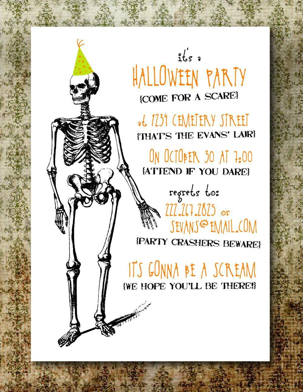 Free Printable Halloween Invitation Templates | Free Printable - Free Printable Halloween Invitations