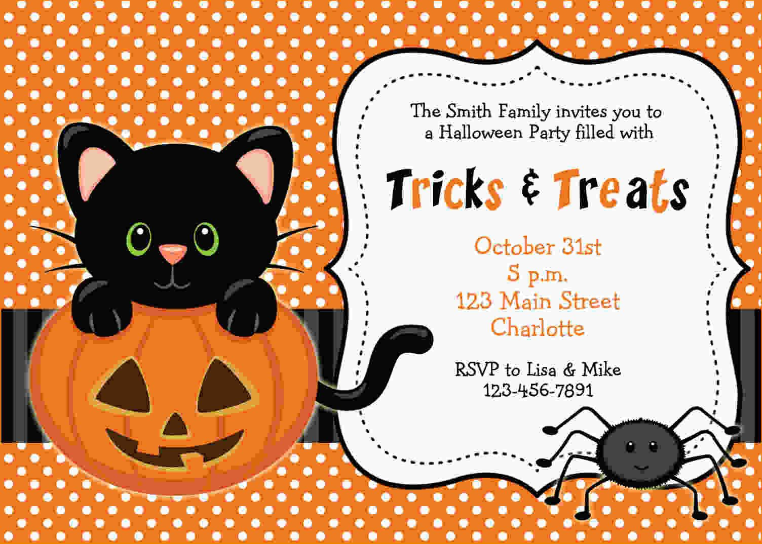 Free Printable Halloween Invitations | Free Printable Birthday - Free Printable Halloween Invitations