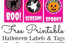Free Printable Halloween Tags