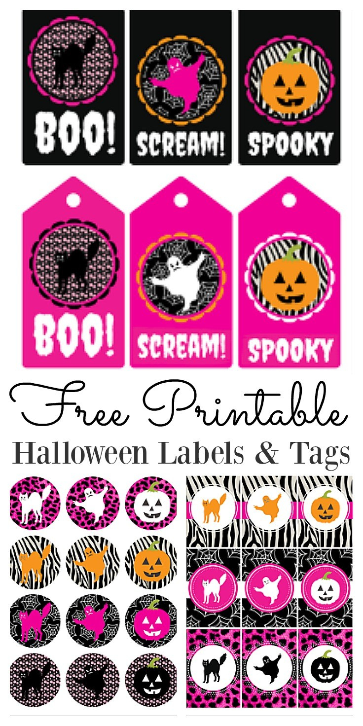 Free Printable Halloween Labels And Tags - Free Printable Halloween Tags