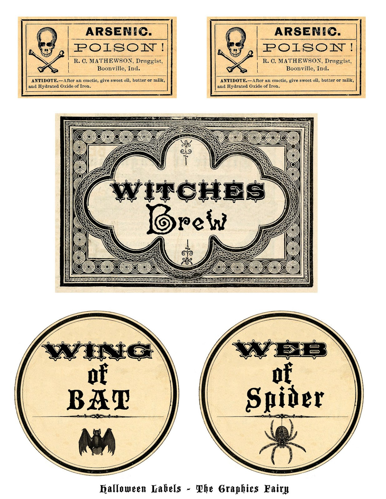 Free Printable Halloween Labels - Potions - The Graphics Fairy - Free Printable Potion Labels