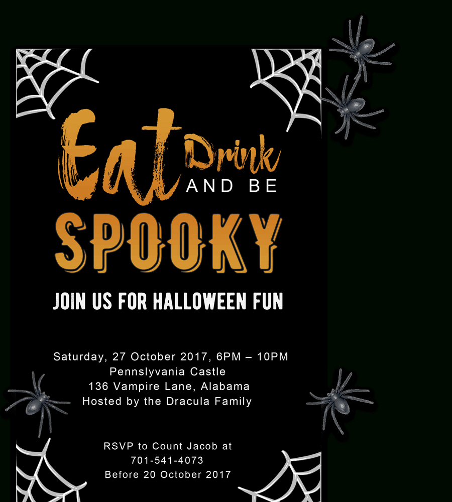 Free Printable Halloween Party Invitations 2018 ✅ [ Template] - Free Halloween Birthday Invitation Templates Printable