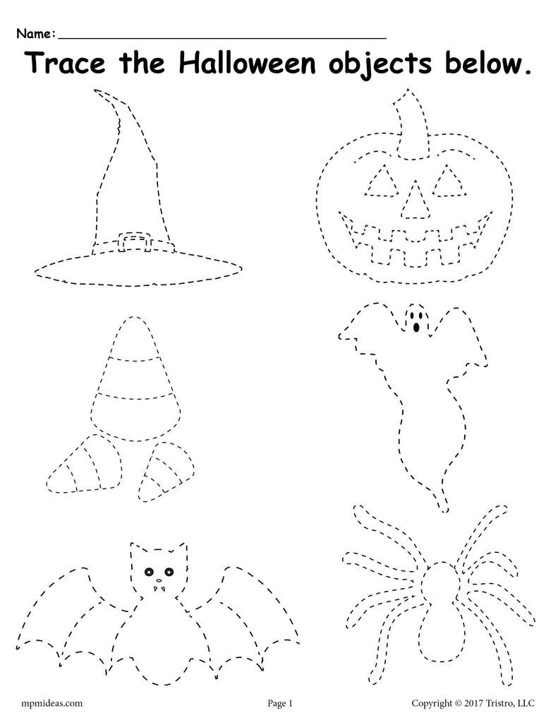 Free Printable Halloween Tracing Worksheet | Halloween | Halloween - Free Printable Halloween Activities
