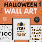 Free Printable Halloween Wall Art  Modern Prints For Your Halloween   Free Printable Halloween Party Decorations