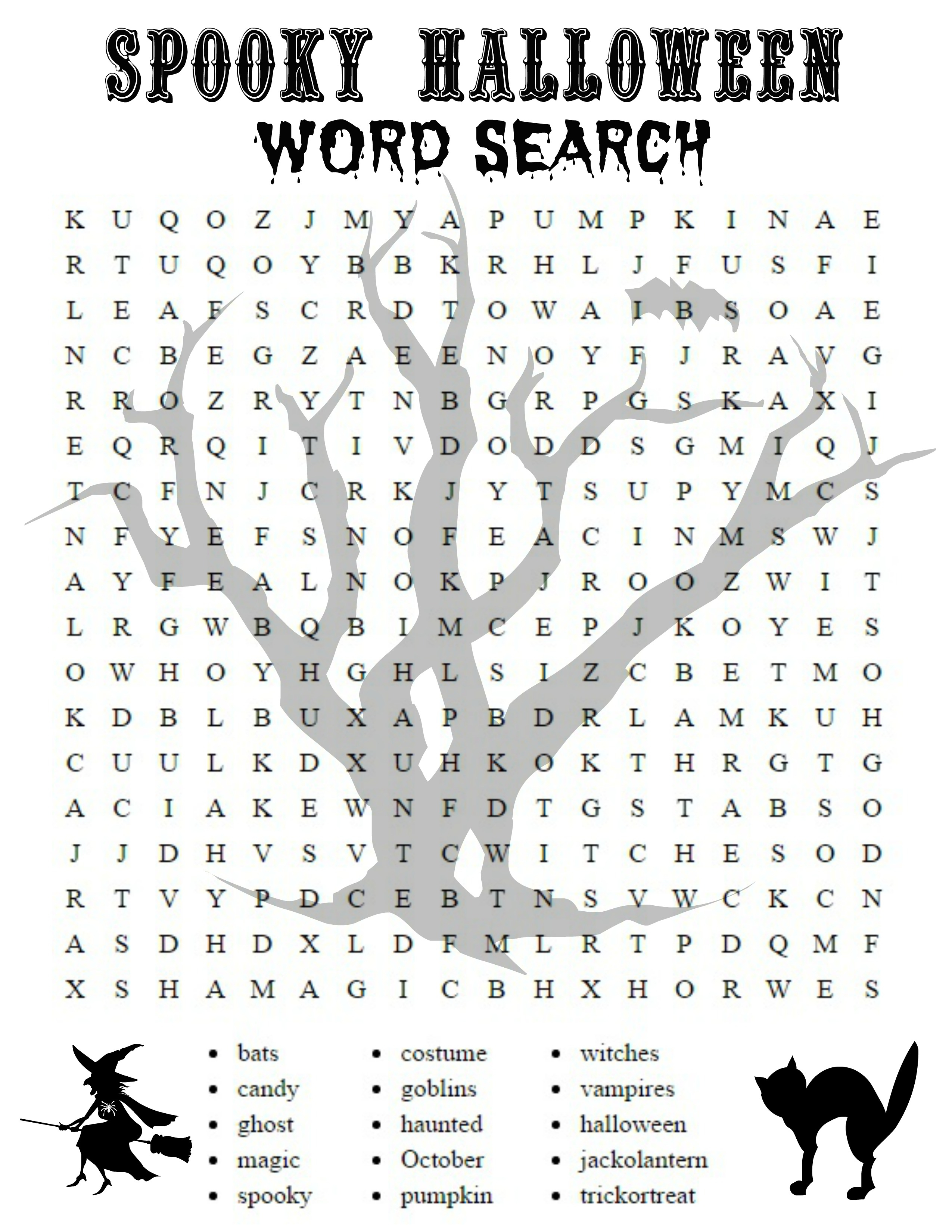 Free Printable Halloween Word Search Sheets - 2.5.hus-Noorderpad.de • - Free Printable Halloween Word Search Puzzles