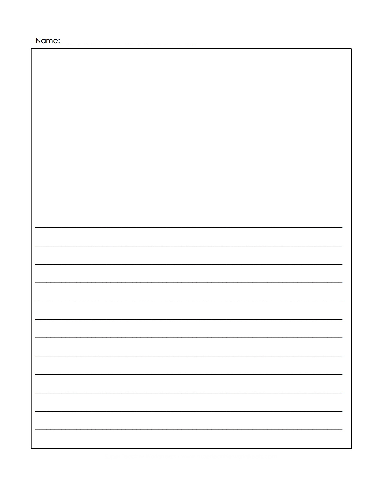 Free Printable Handwriting Paper With Picture Box   Download Them - Free Printable Writing Paper With Picture Box