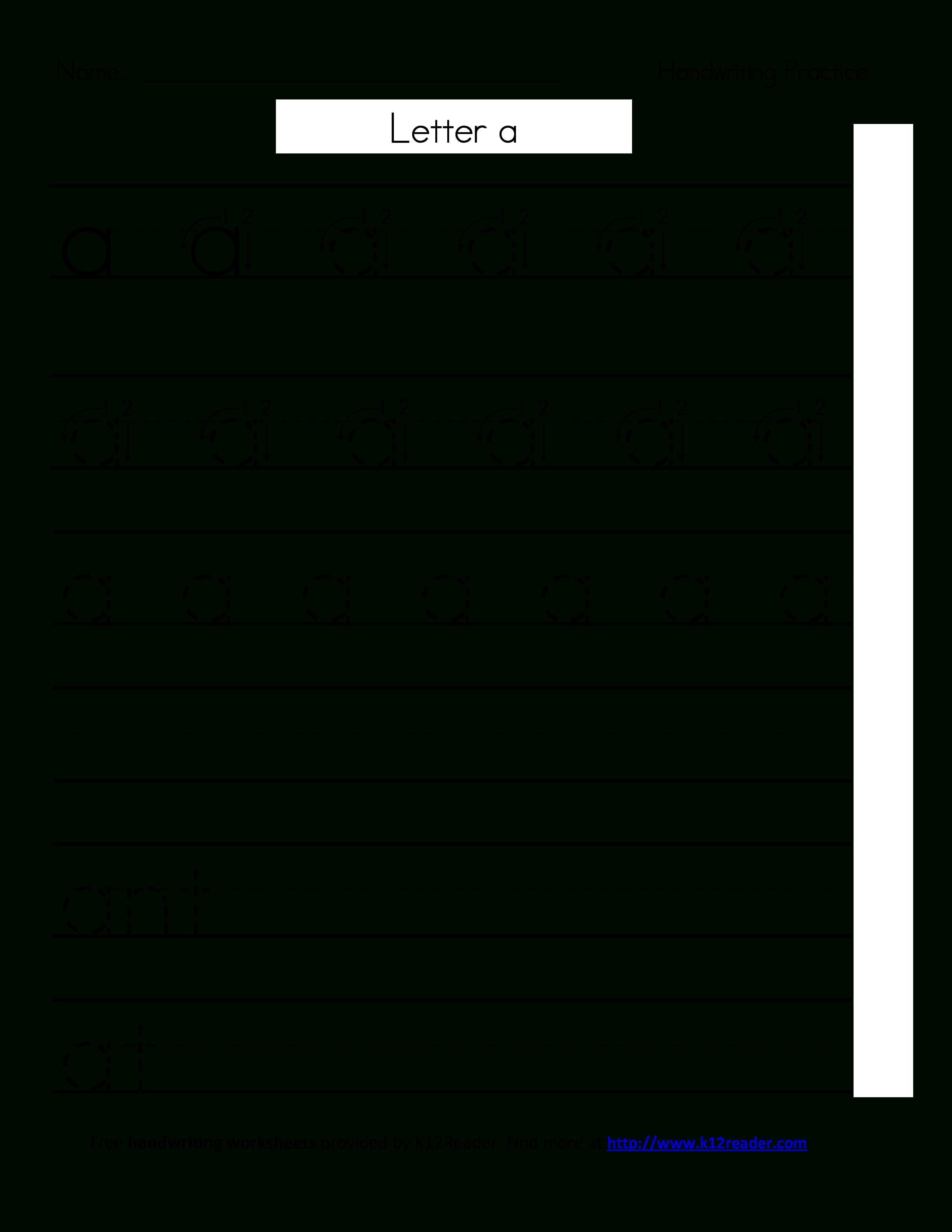 Free Printable Handwriting Worksheets | Templates At - Free Printable Handwriting Worksheets