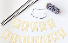 Free Printable Happy Birthday Mini Cake Bunting | Cupcake Topper – Happy Birthday Free Printable
