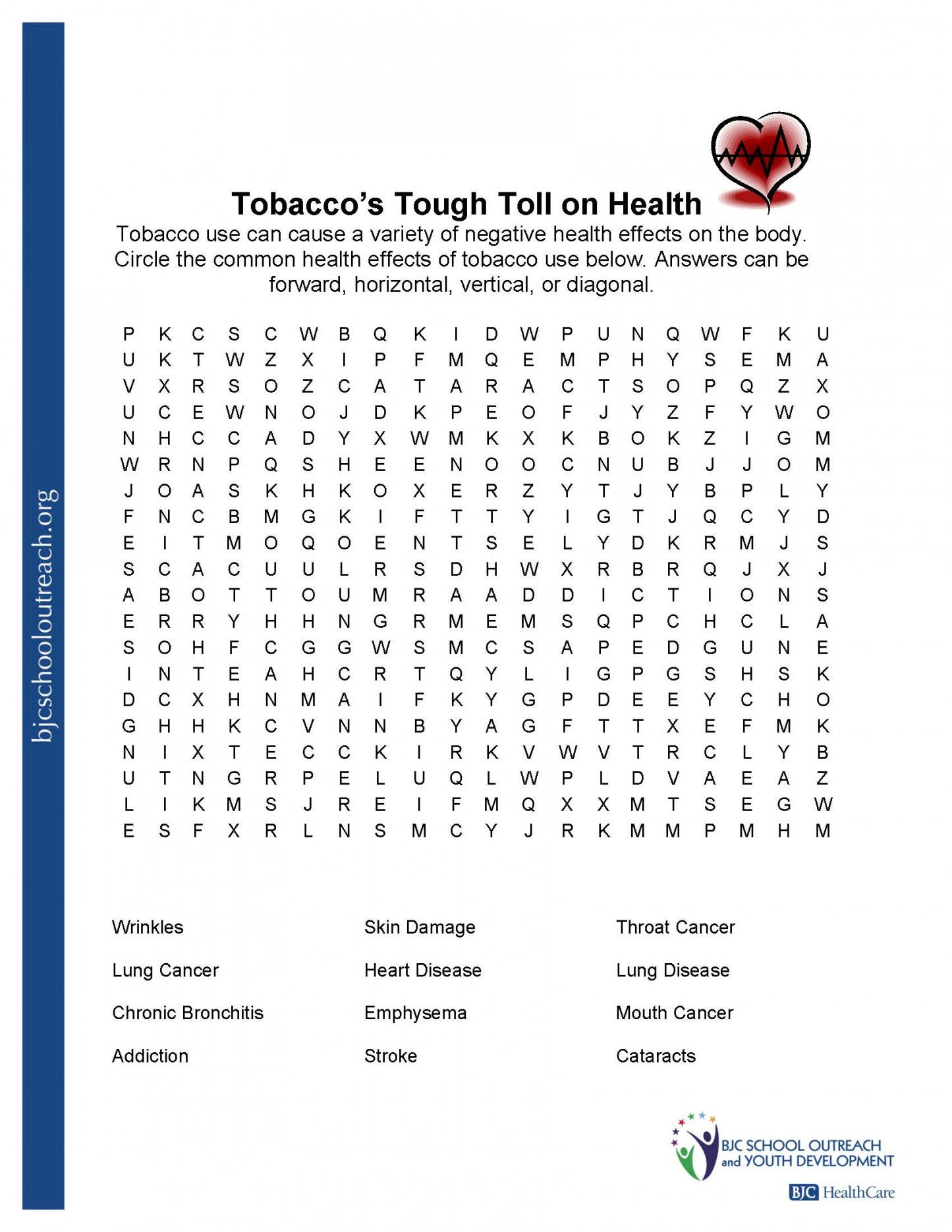 Free Printable Health Worksheets For Middle School | Lostranquillos - Free Printable Health Worksheets For Middle School