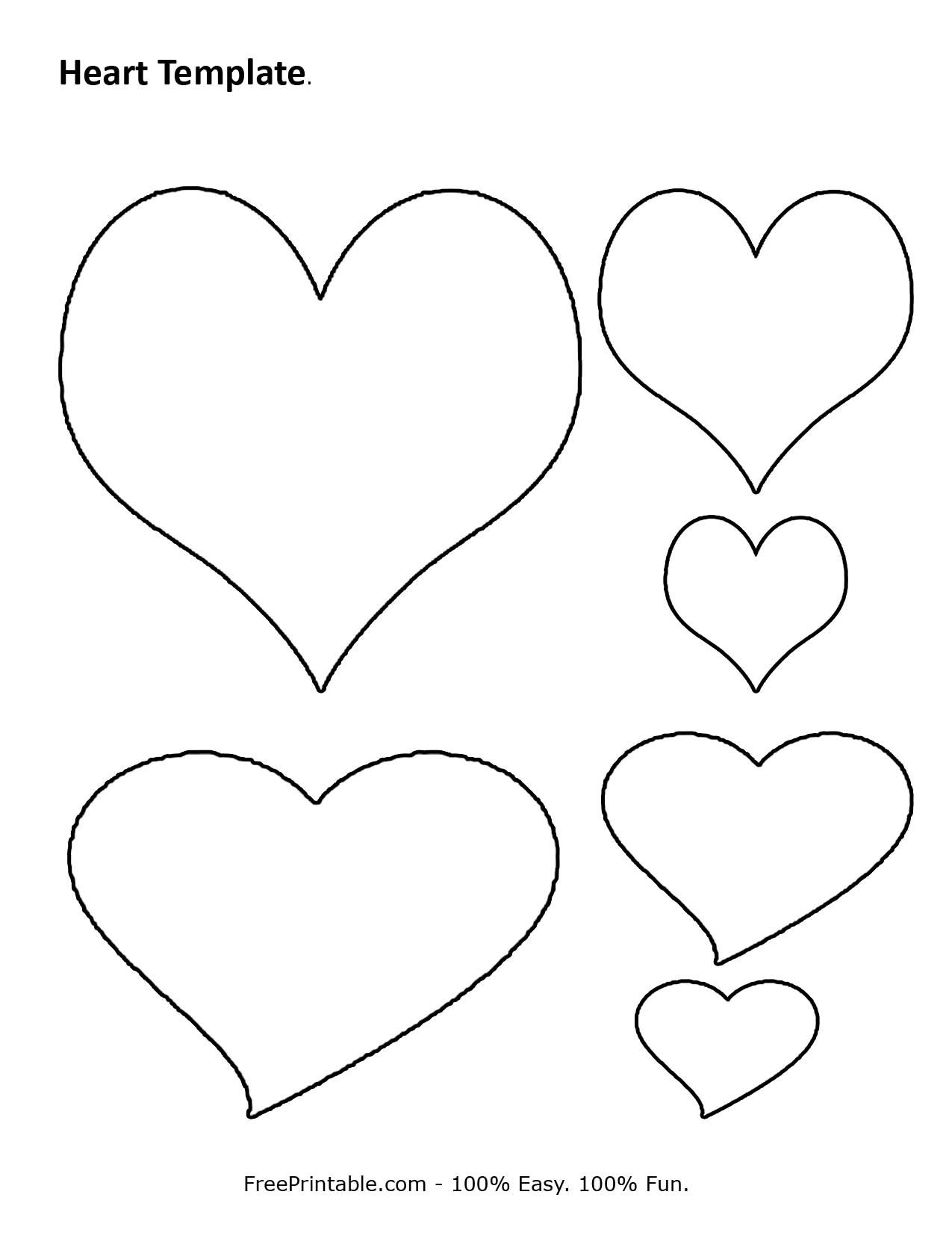 Free Printable Heart Template | Cupid Has A Heart On | Pinterest - Free Printable Heart Designs