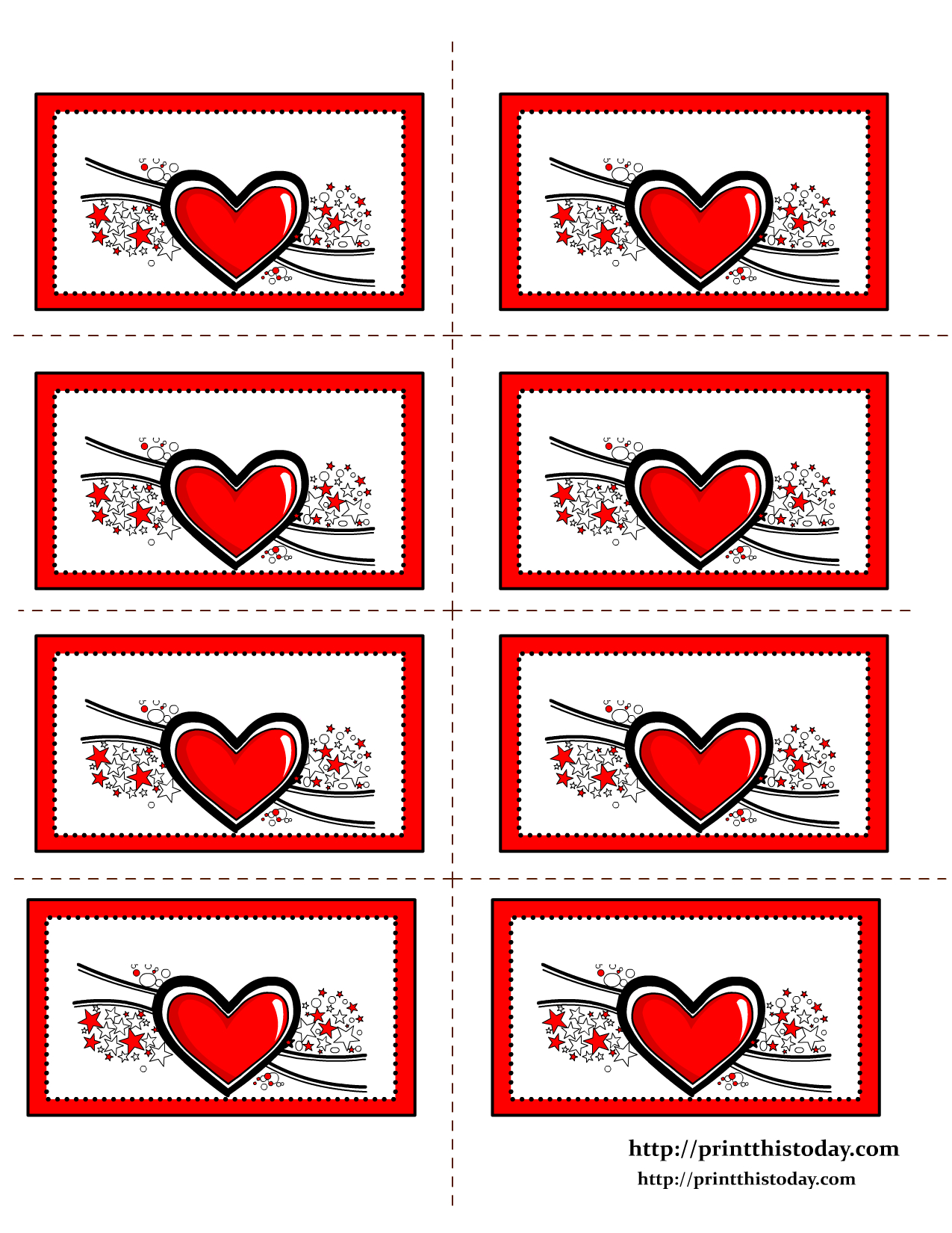 Free Printable Hearts Labels | Misc This&that | Pinterest | Free - Free Printable Heart Labels
