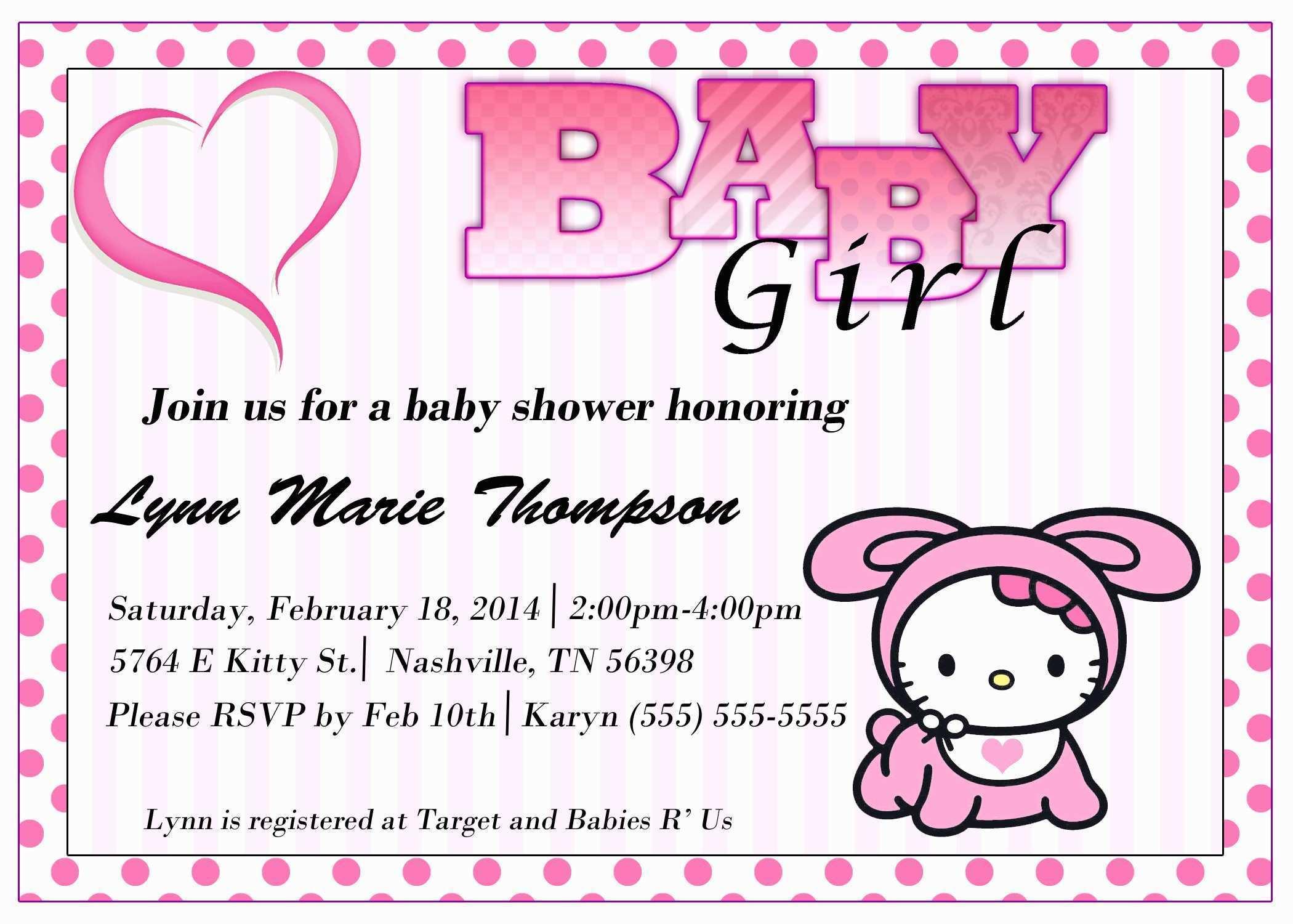 Free Printable Hello Kitty Baby Shower Invitations Pretty Hello - Free Printable Hello Kitty Baby Shower Invitations