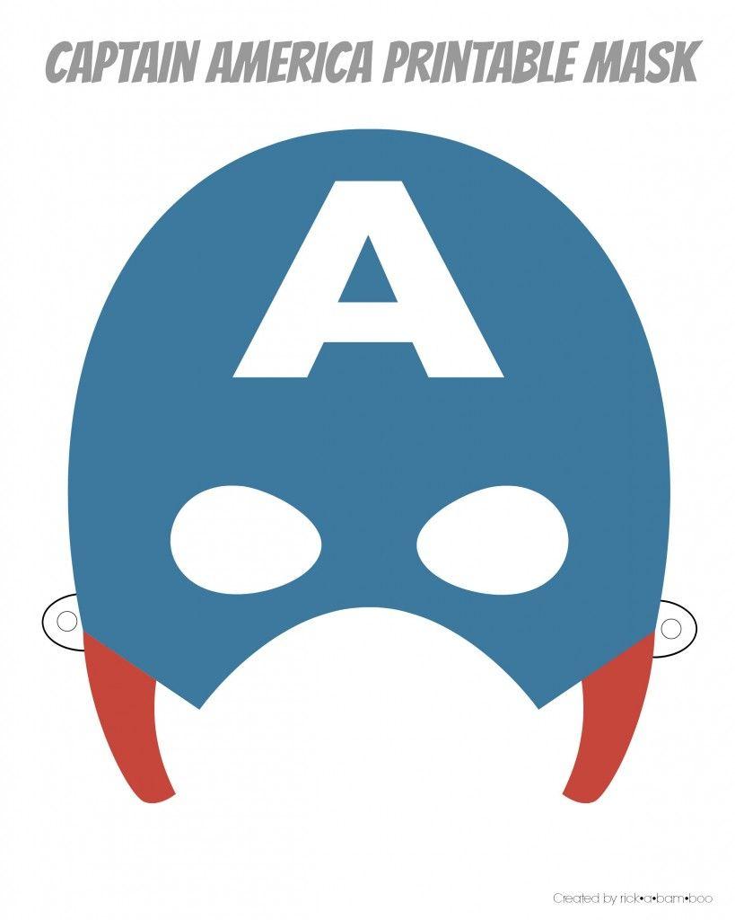 Free Printable Hero Masks | Captain Amerika | Pinterest | Superhero - Free Printable Superhero Masks
