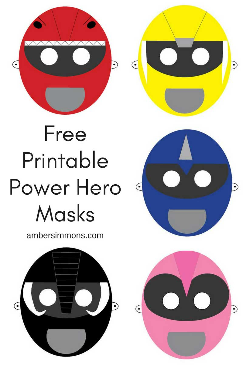 Free Printable Hero Masks - Free Printable Superhero Masks