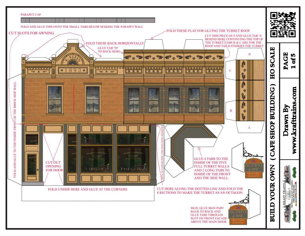 Free Printable Ho Scale Model Train Set Railroad Coffee Shops. - Free Printable Model Railway Buildings