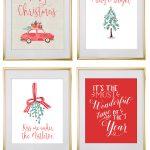 Free Printable Holiday Christmas Wall Art From @chicfetti | Free   Free Printable Christmas Decorations