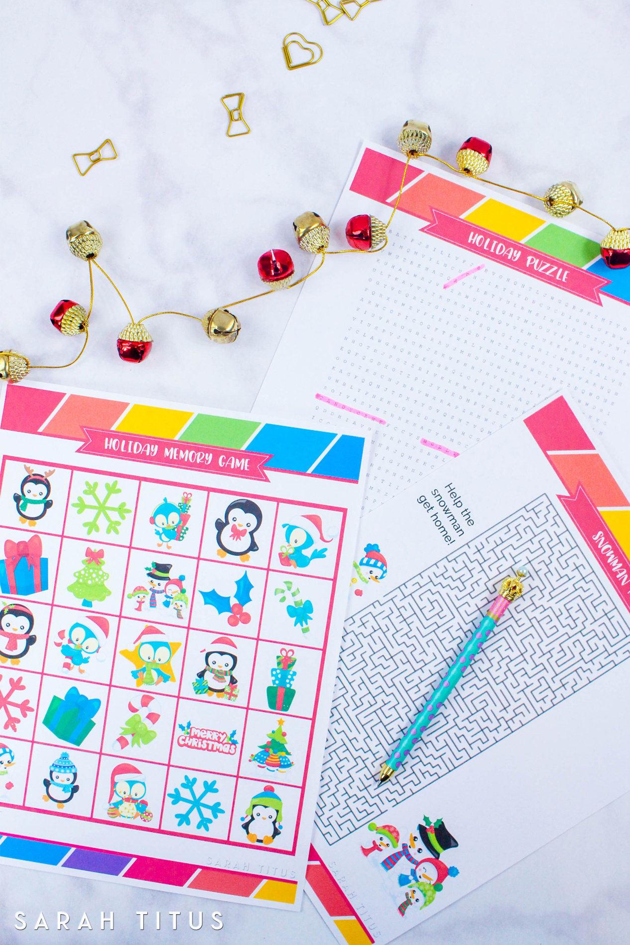Free Printable Holiday Games That You Will Love - Sarah Titus - Free Holiday Games Printable