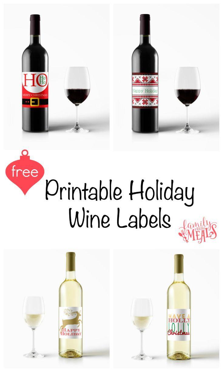 Free Printable Holiday Wine Labels   Printables   Pinterest   Wine - Free Printable Wine Labels With Photo