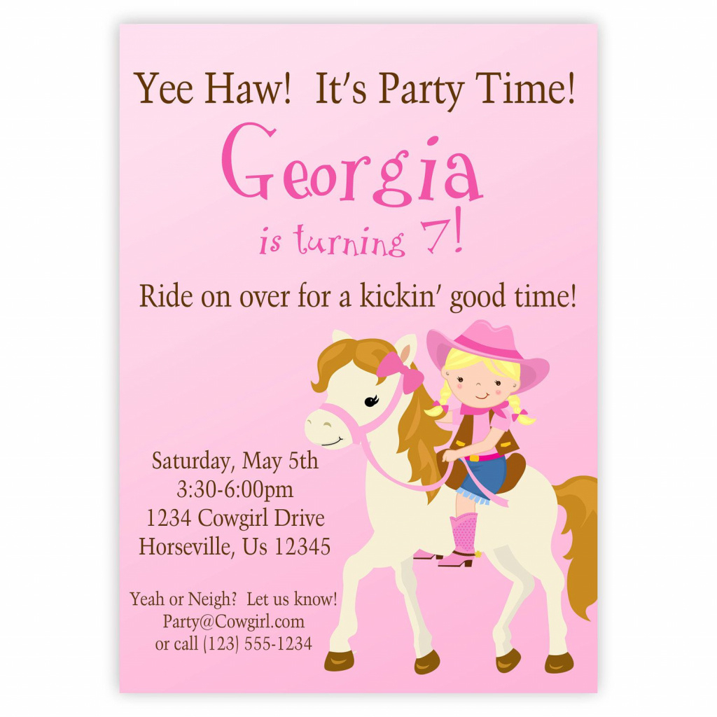 Free Printable Horse Themed Birthday Party Invitations | Free Printable - Free Printable Horse Themed Birthday Party Invitations