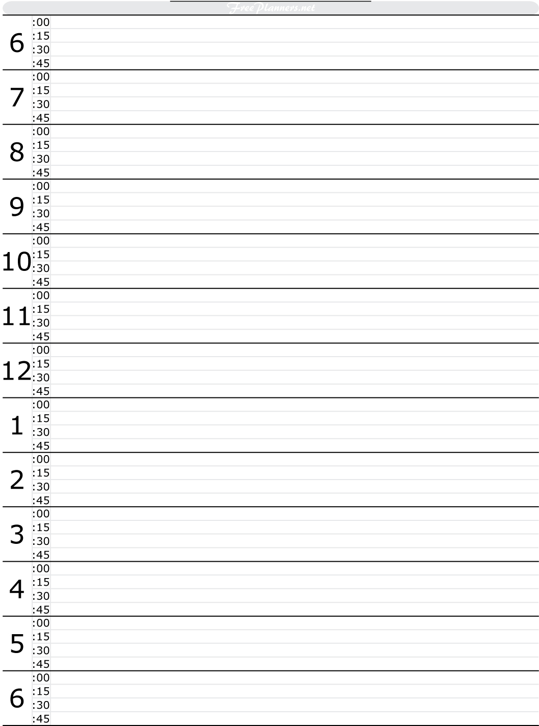 Free Printable Hourly Daily Planner | Tools To Get This Under - Free Printable Daily Planner 2017