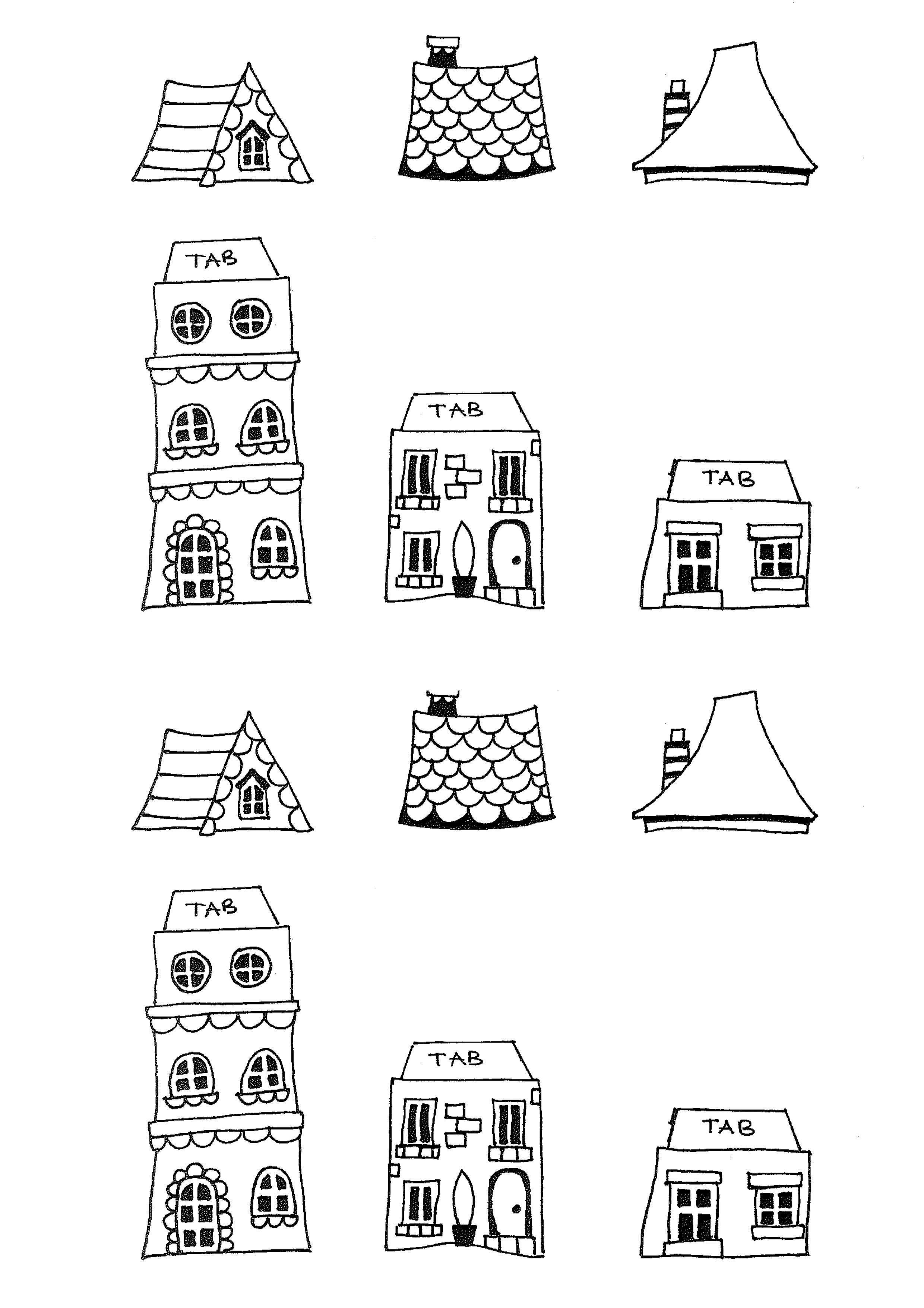 Free Printable House Templates | Doodles And Type | New Home Cards - Free Printable Card Templates