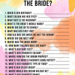 Free Printable 'how Well Do You Know The Bride?' Hen Party & Bridal   How Well Do You Know The Bride Game Free Printable