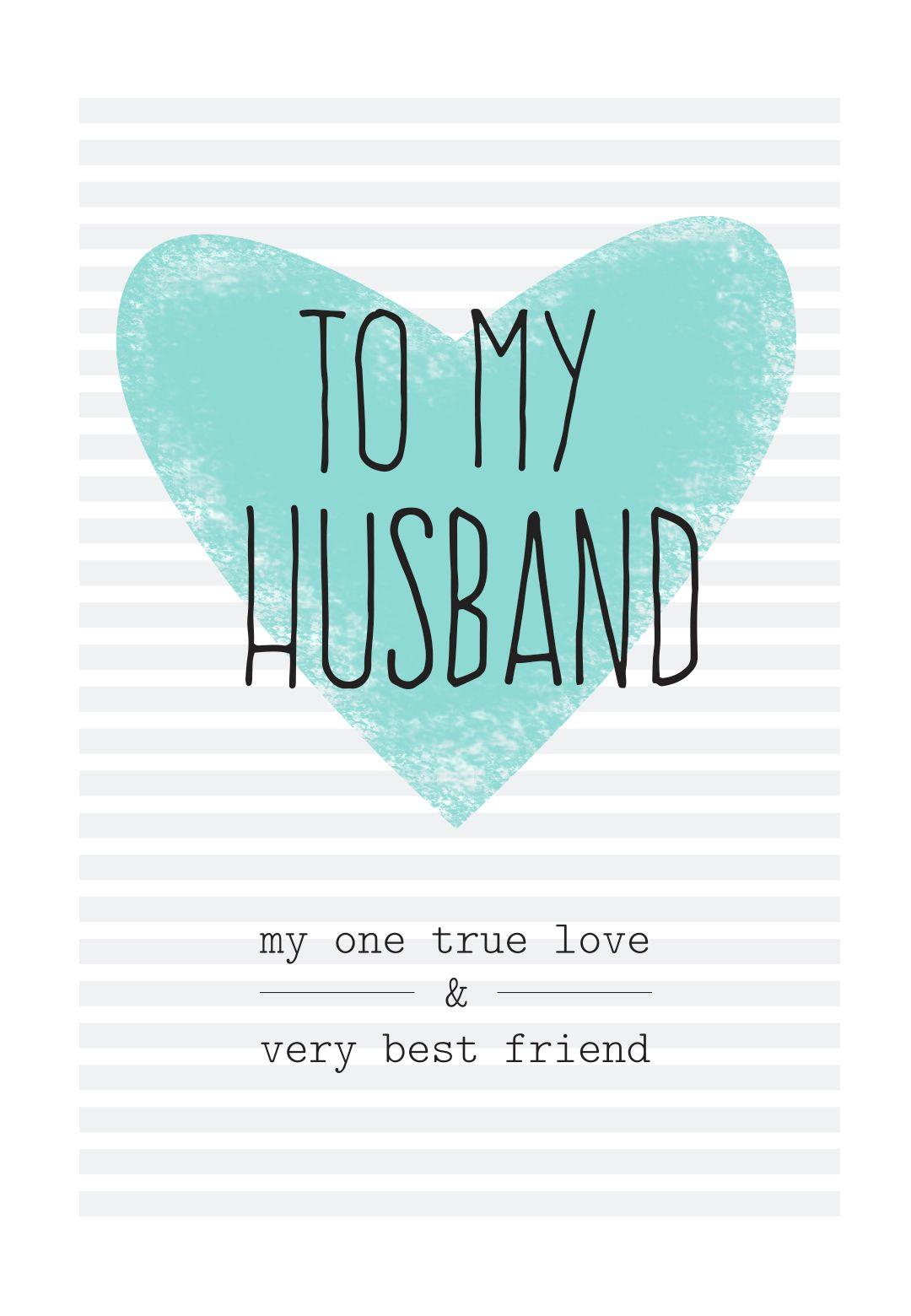 Free Printable Husband Greeting Card | Diy | Free Birthday Card - Free Printable Love Greeting Cards