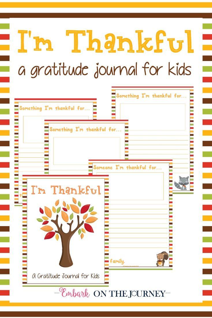 "Free Printable ""i'm Thankful"" Gratitude Journal For Kids - Free Printable Thanksgiving Writing Paper"