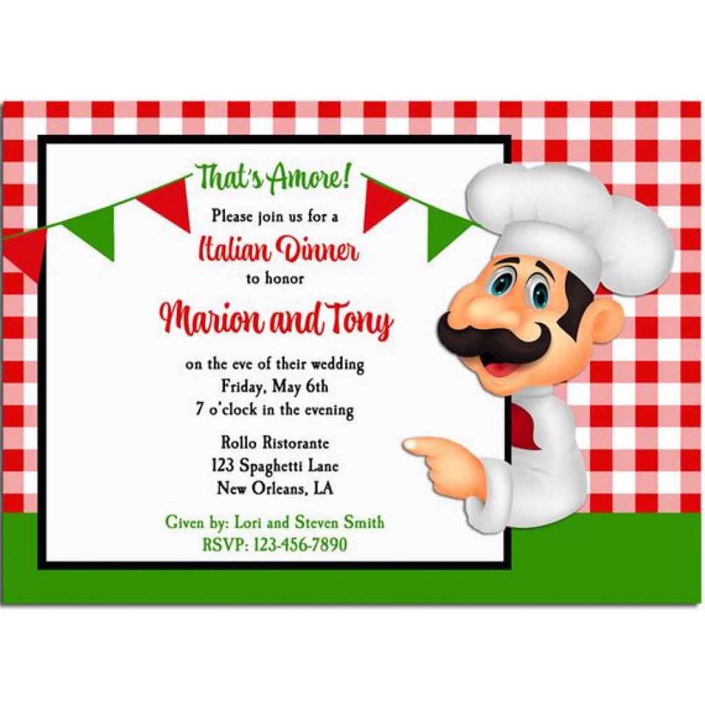 Free Printable Italian Dinner Invitations | Free Printable - Free Printable Italian Dinner Invitations