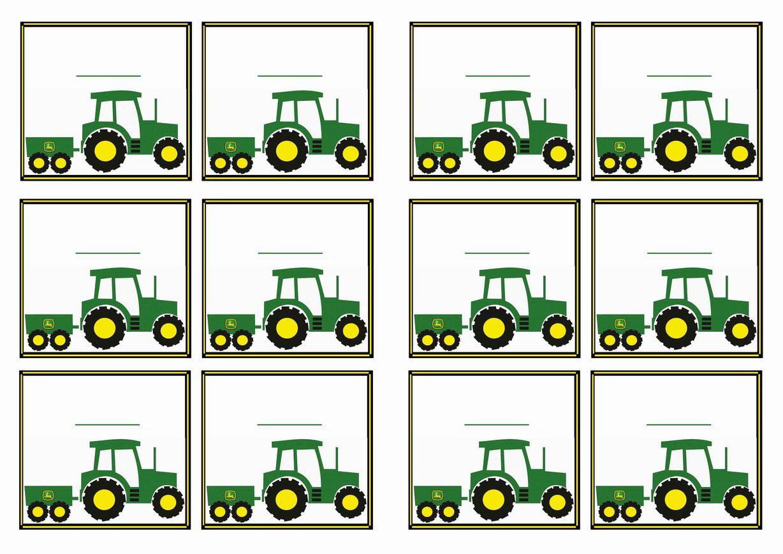 Free Printable John Deer Tractor Themed Name Tags   Themed Name Tags - Free Printable John Deere Food Labels