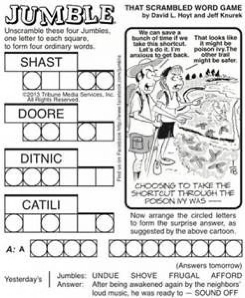 Free Printable Jumble Puzzles - Bing Images | Jumble Puzzles - Jumble Puzzle Printable Free