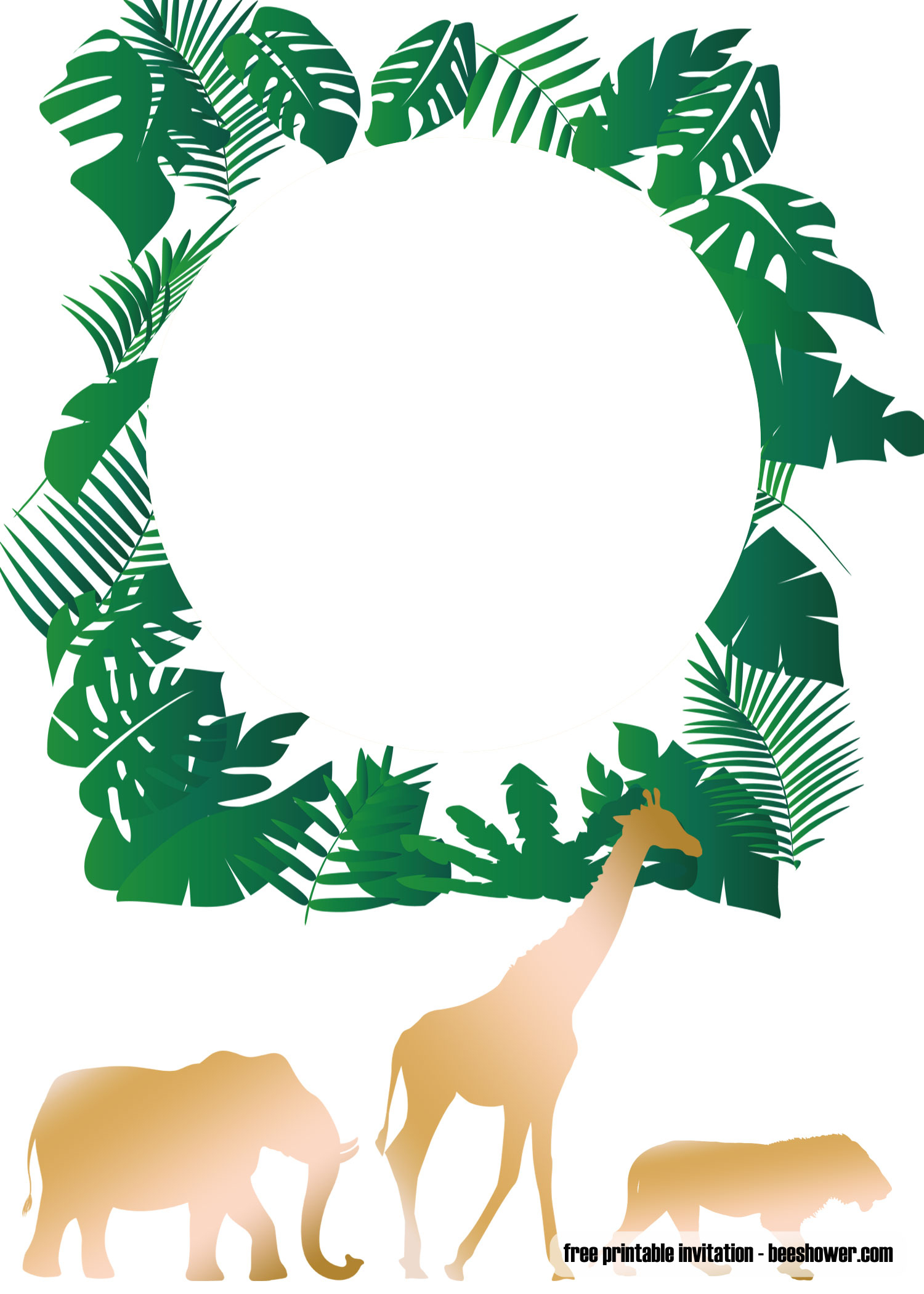 Free Printable Jungle Baby Shower Invitations Templates | Free - Free Printable John Deere Baby Shower Invitations