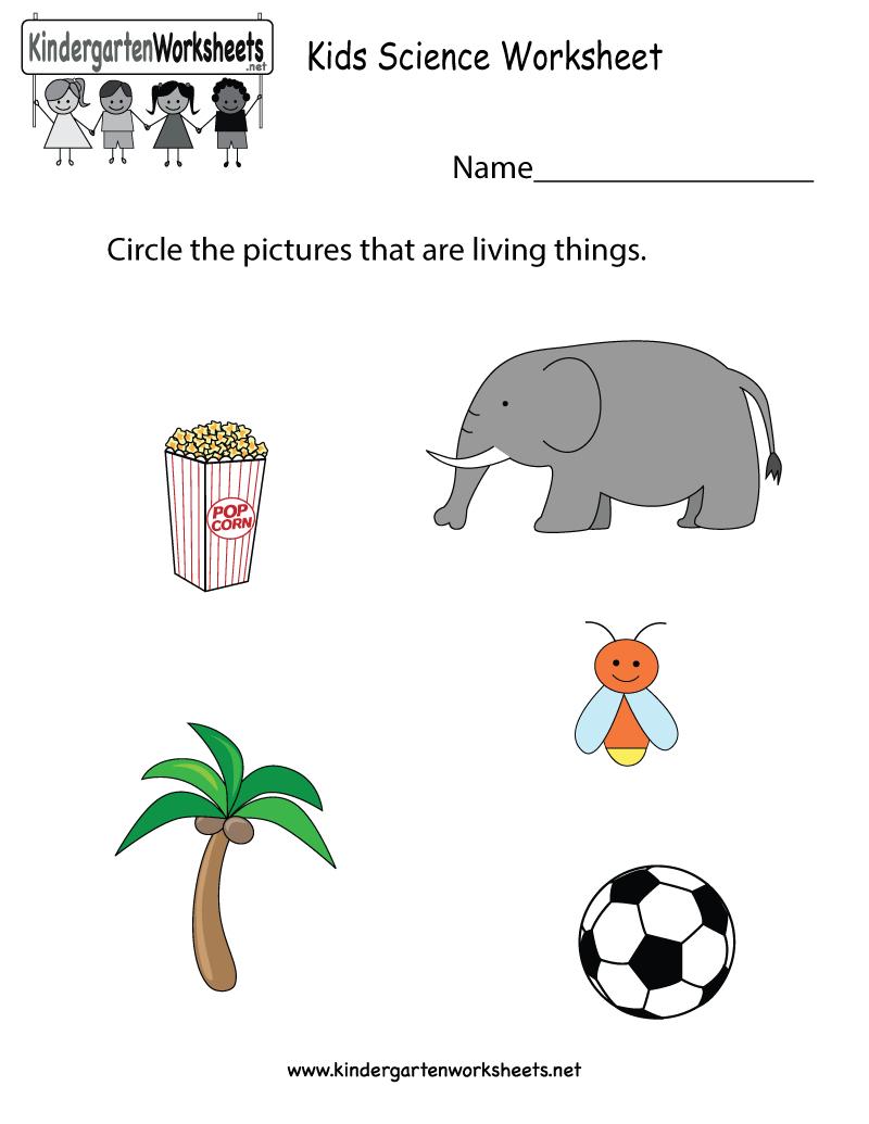 Free Printable Kids Science Worksheet For Kindergarten - Free Printable Worksheets For Kg1